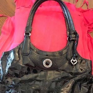 Vintage Brighton embossed satchel handbag